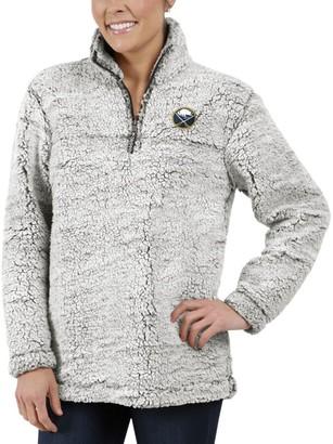 Buffalo David Bitton G Iii Women's G-III 4Her by Carl Banks Gray Sabres Sherpa Quarter-Zip Pullover Jacket