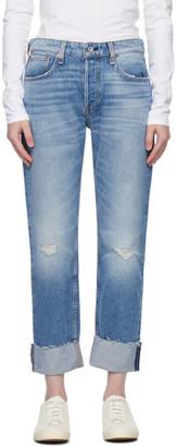 Rag & Bone Blue Nina Mid-Rise Boyfriend Jeans