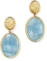 Marco Bicego 18K Yellow Gold Siviglia Resort Drop Earrings with Aquamarine