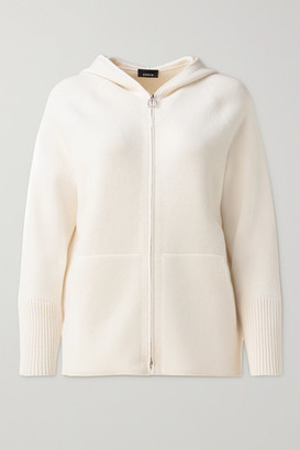 Akris Hooded Cashmere Cardigan - Ivory