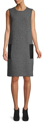 Max Mara Perim Sleeveless Tweed Shift Dress