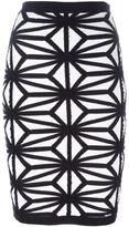 DSQUARED2 knit pencil skirt - women - Polyamide/Viscose/Cashmere/Wool - S