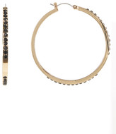 Jessica Simpson Embellished Hoop Earrings