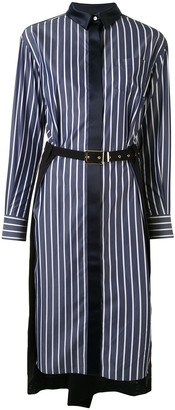 Sacai Striped Shirt Dress
