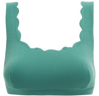 Marysia Swim Palm Springs Scalloped-edge Bikini Top - Womens - Blue