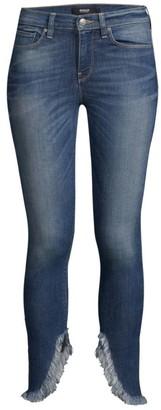 Hudson Fringe Ankle Jeans