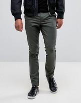 Asos Super Skinny Mini Geo Print Pants In Khaki