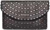 Dorothy Perkins Black Laser Cut Clutch Bag