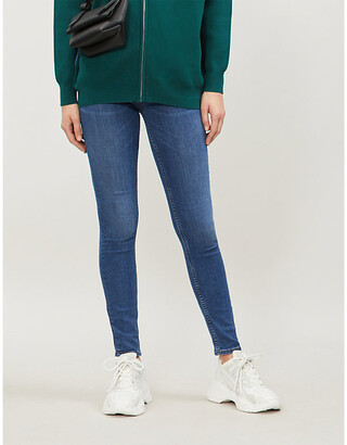 Sandro High-rise skinny stretch-denim jeans