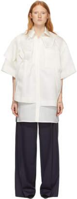 Nina Ricci Off-White Silk Buttoned Blouse