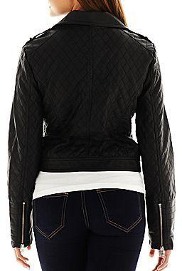 JCPenney Decree® Faux-Leather Moto Jacket