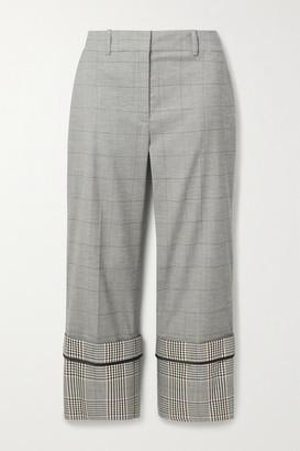 Monse Cropped Checked Wool-blend Straight-leg Pants - Gray