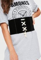 Missguided Faux Suede Corset Belt