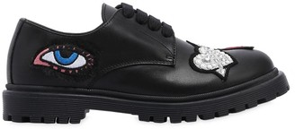 Andrea Montelpare Leather Lace-Up Shoes W/ Patches
