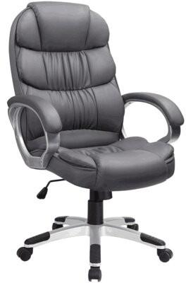 Orren Ellis Enosburg High Back Executive Chair Color: Gray
