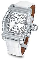 Charriol Diamond Colvmbvs Chronographe Tonneau Watch with White Crocodile Strap