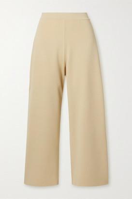 Stella McCartney Net Sustain Stretch-knit Culottes - Pastel yellow