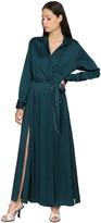 Thumbnail for your product : Sies Marjan Satin Crepe Envers Wrap Shirt Dress