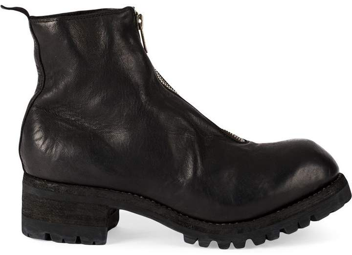 Guidi front zipped up boots