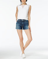 Hudson Dahlia Cotton Dolphin-Hem Denim Shorts