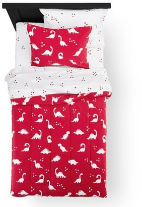 Your Zone Dinosaur Print Bed in a Bag Kids Bedding Set, Multiple Colors