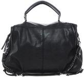 River Island Black Double Zip Slouch Bag