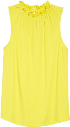 1901 Gathered Neck Sleeveless Knit Top