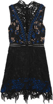 Self-Portrait Clementine guipure lace mini dress