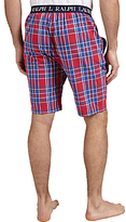 Polo Ralph Lauren Check Woven Cotton Lounge Shorts, Red/navy