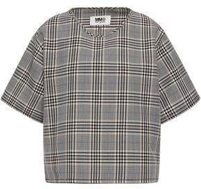 MM6 MAISON MARGIELA Prince Of Wales Checked Wool-blend Jacquard Top