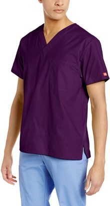 Dickies Men's Signature V-Neck Scrubs Shirt