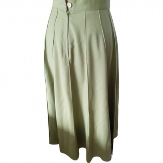 Kenzo Green Wool Skirt for Women Vintage