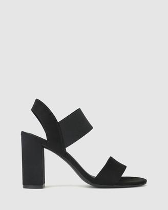 betts Khloe Wide Fit Block Heel Sandal