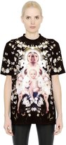 Givenchy Floral & Madonna Printed Silk Satin Top