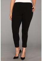 Vince Camuto Plus - Plus Size Pleather Pannel Legging (Rich Black) - Apparel