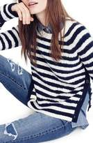 J.Crew J. CREW Stripe Cable Knit Sweater with Buttons