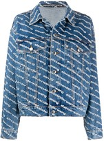 Alexander Wang logo print denim jacket