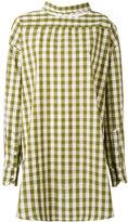 Erika Cavallini - back button blouse - women - Cotton/Linen/Flax - 40