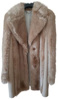 Patrizia Pepe Beige Faux fur Coat for Women