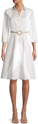Elie Tahari Candence Belted Midi Dress