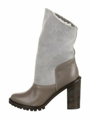 Fabiana Filippi Suede Boots Grey