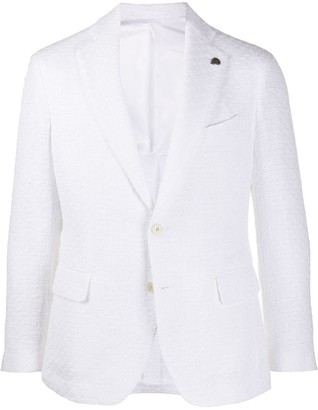 Gabriele Pasini Tweed Single Breasted Blazer