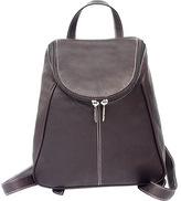 Piel Women's Leather UZip Flap Backpack 2466