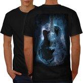Classic Fire Guitar Men XXXL T-shirt Back | Wellcoda