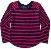 Ralph Lauren Striped Long-Sleeve Shirt, Toddler & Little Girls (2T-6X)