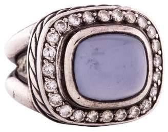David Yurman Chalcedony & Diamond Albion Ring