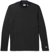 Beams Champion Slim-Fit Cotton-Blend Jersey Mock-Neck Sweatshirt