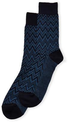 Missoni Tonal Zigzag Crew Socks