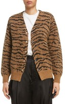 Toga Women's Tiger Jacquard Knit Button Cardigan