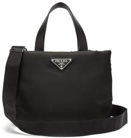 ffa96f97c2 Small Padded Nylon Tote Bag - Womens - Black